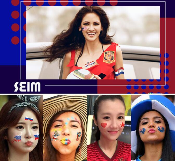 2018 World Cup Sticker Russian World Cup 32 strong face stickers customized