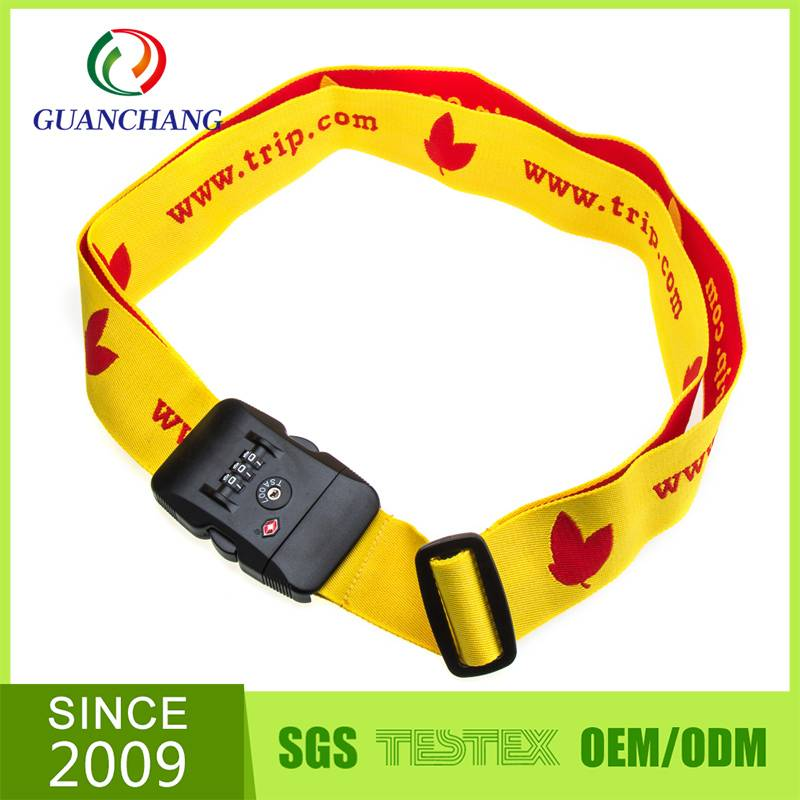 China market Tsa lock travelling luggage tag strap
