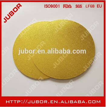 10'' Round Gold Masonite Decorative Cake Boards