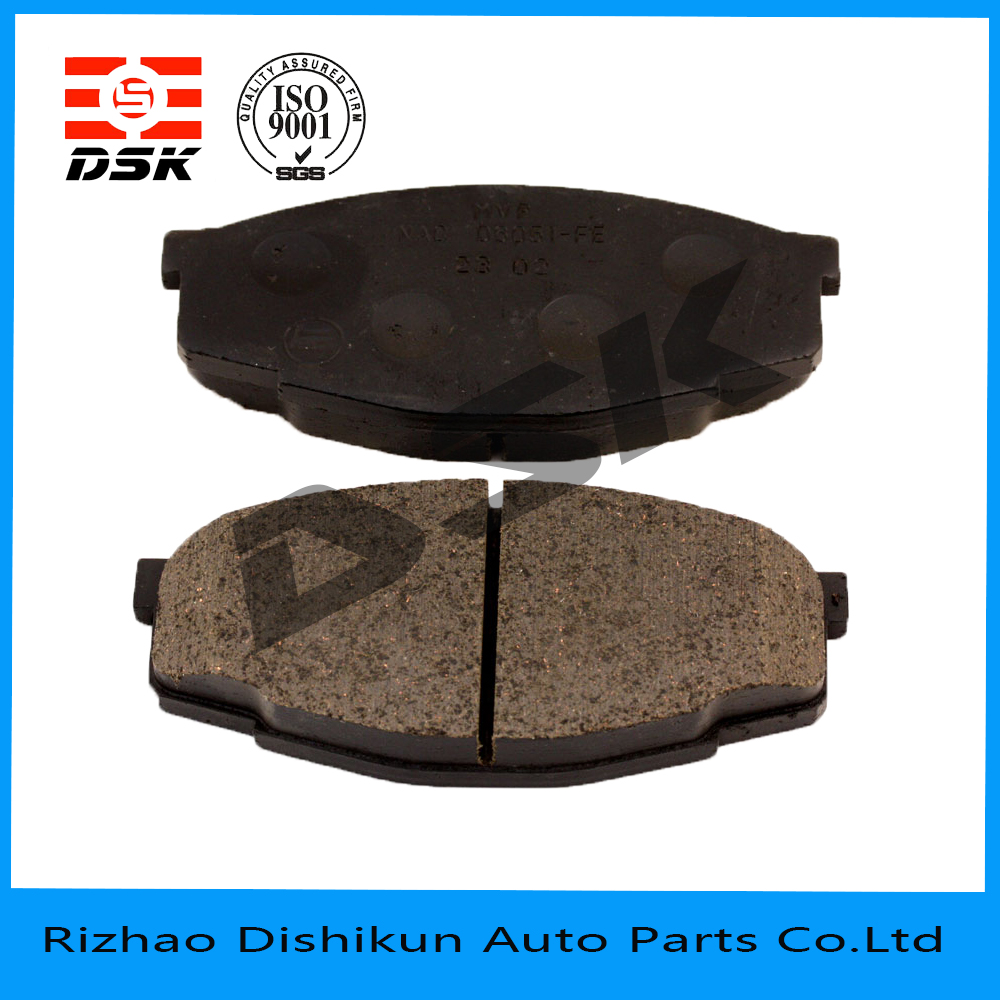 excellent quality low noise auto part brake pad 7127-D207
