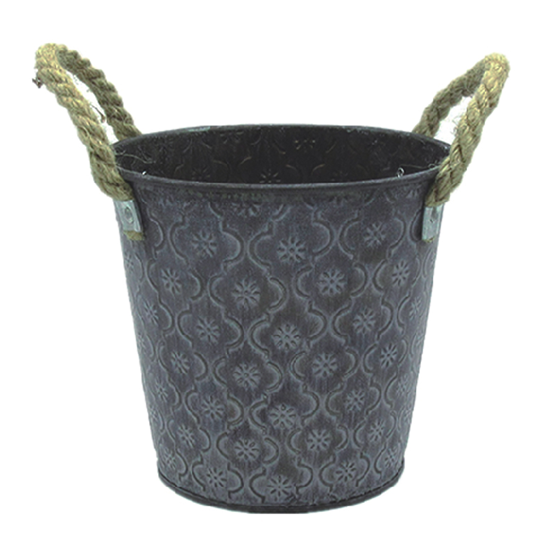 Zinc iron sheet material metal flower pot
