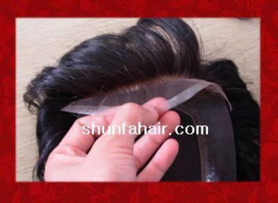 100% human hair toupee all hand made toupee / hot sale toupee
