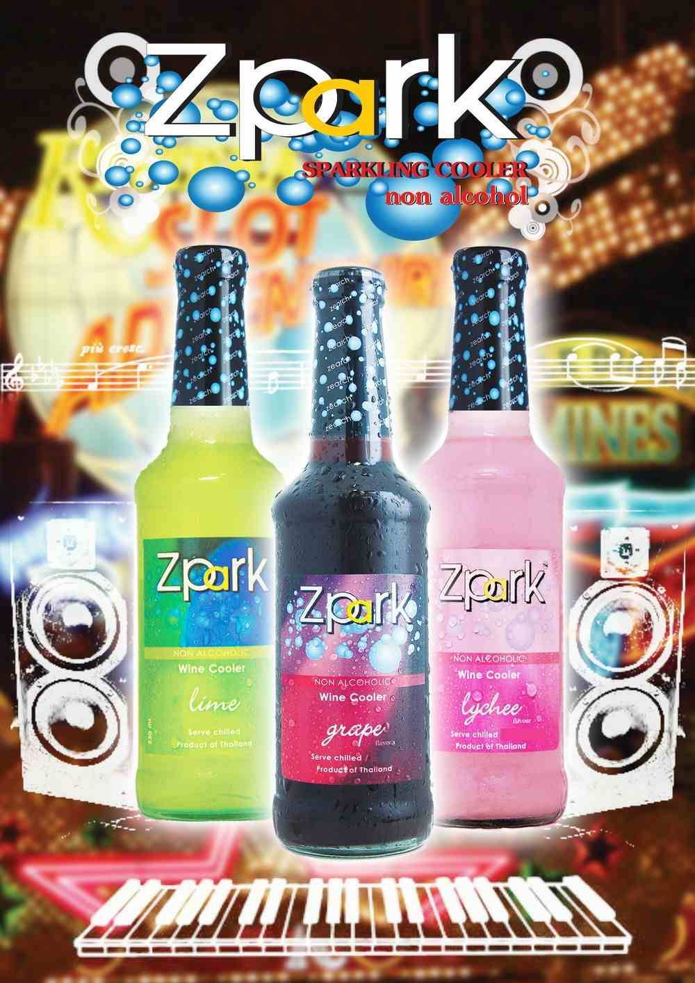 Zpark non-alcoholic tropical wine