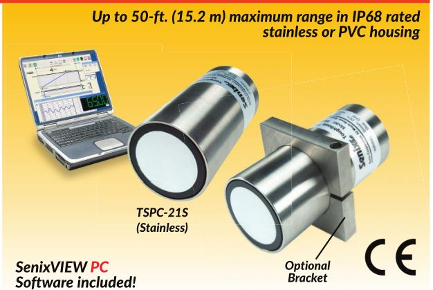 Ultrasonic Distance & Level sensor TSPC-21S series with Windows PC Setup/Waterproof/Multiple Output