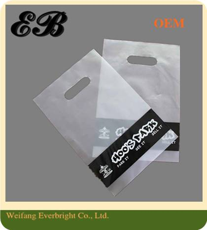 Plastic Die Cut Biodegradable Flat Bag