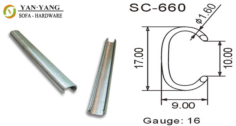 sc-660 series silver color furniture staples sofa staples mattress clips spring clips