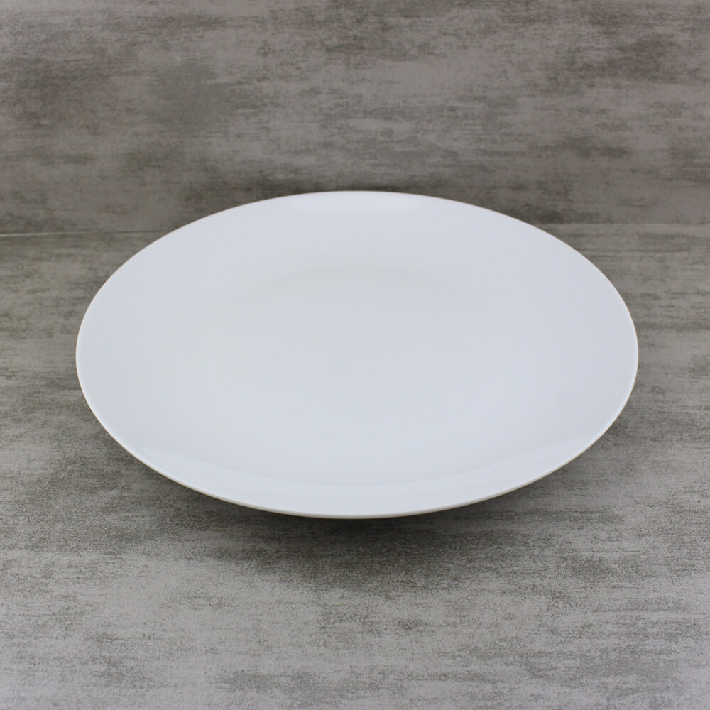 Porcelain Couped White Dinner Plates Wholesale