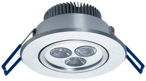 3W LED Spot Light Ceiling Assembled