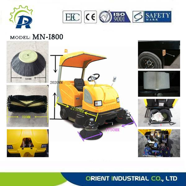 Sanitation heavy load sweeper