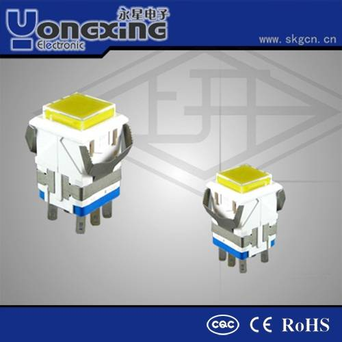 IP40 3A 250V AC small push button switch