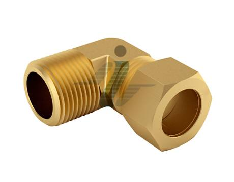 Brass 90 Degree Male Elbow Connector