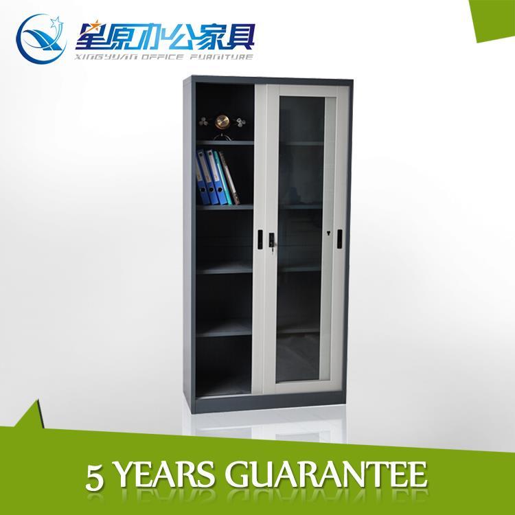 Decorative China vintage metal sliding glass door cabinets