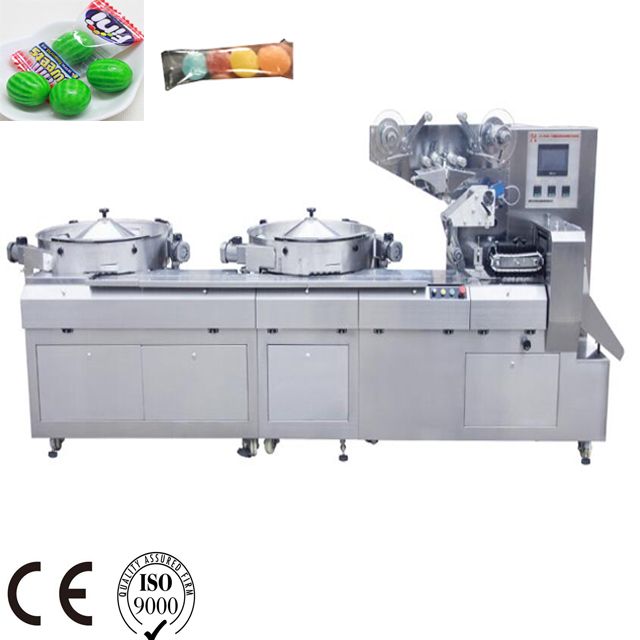 Automatic Disc feeding two color Multi-Function high speed Automatic flow wrapper package machine