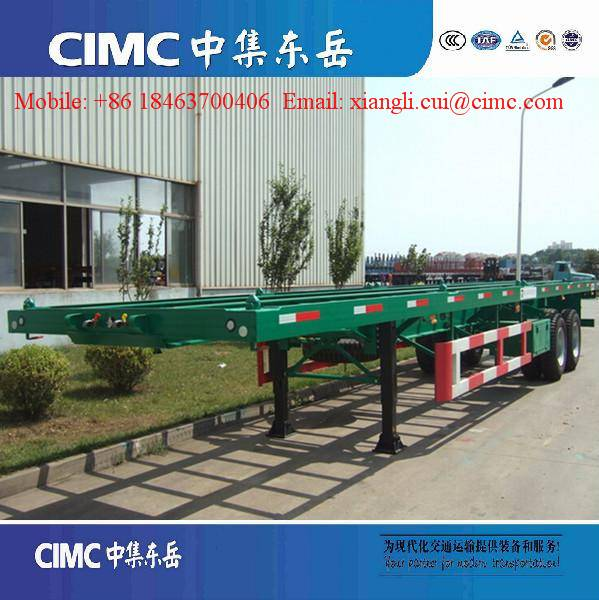 40ft skeleton container chassis trailer for sale