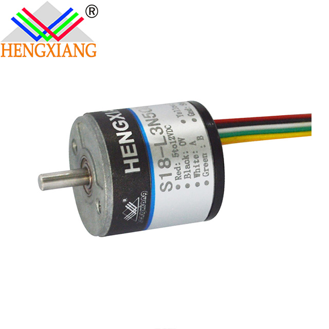 Hengxiang S18 Series Incremental Miniture Solid Encoder With Diameter 18mm Shaft 2.5mm NPN output