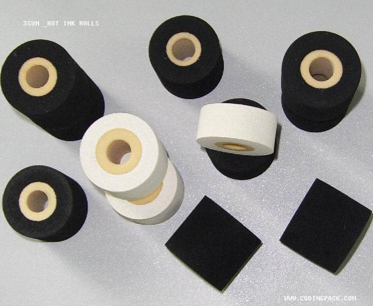 Hot ink roll for paper and plastics