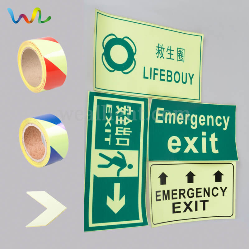 Fire Safety Signs, Glow In The Dark Exit Signs, Photoluminescent Signs