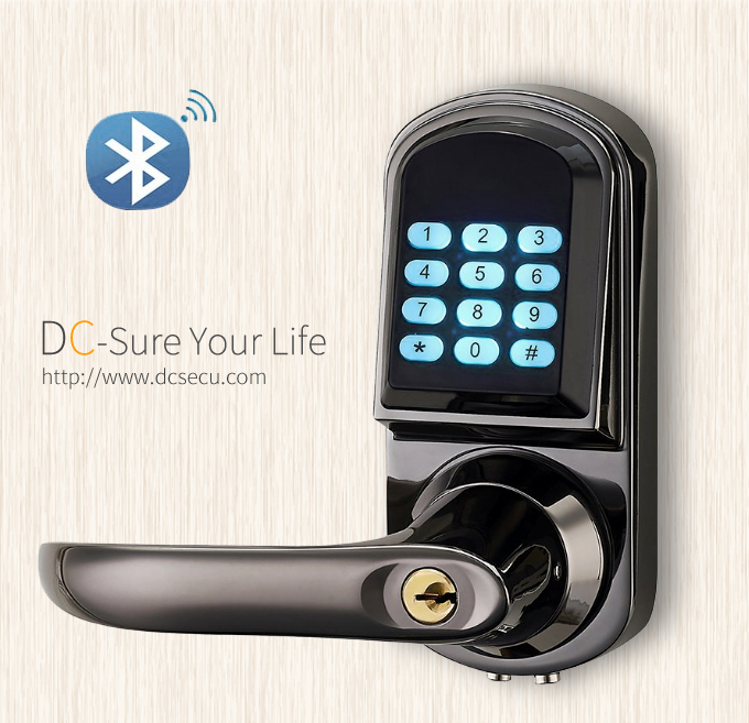 Architectural Hardware Bluetooth Door Locks Lever Handle Smart Electronic Digital Door Lock APP Lock