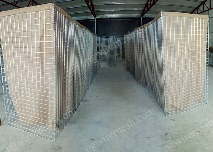 Hesco Barrier the domestic storm&flood defensive barrier wall in Egypt