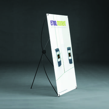 ONE-OFF X-BANNER/BANNER STAND/ROLL UP