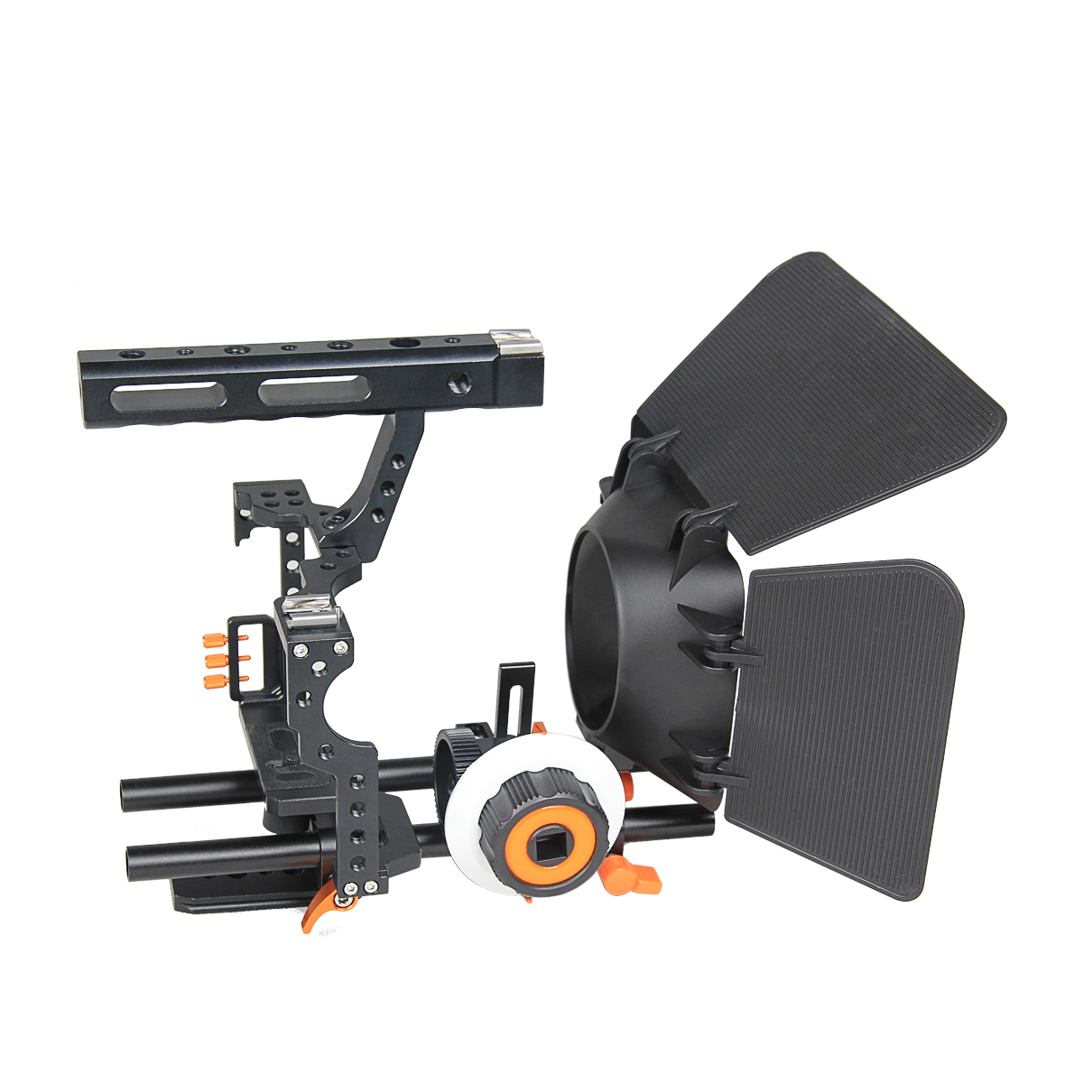 YELANGU Popular DSLR Camera Cage Shoulder Mount Rig Kit C500 Contain Follow Focus Matte Box