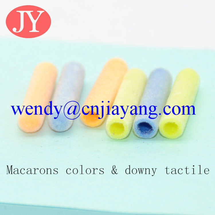new style plastic aglet flocky surface special types aglet for hoodie