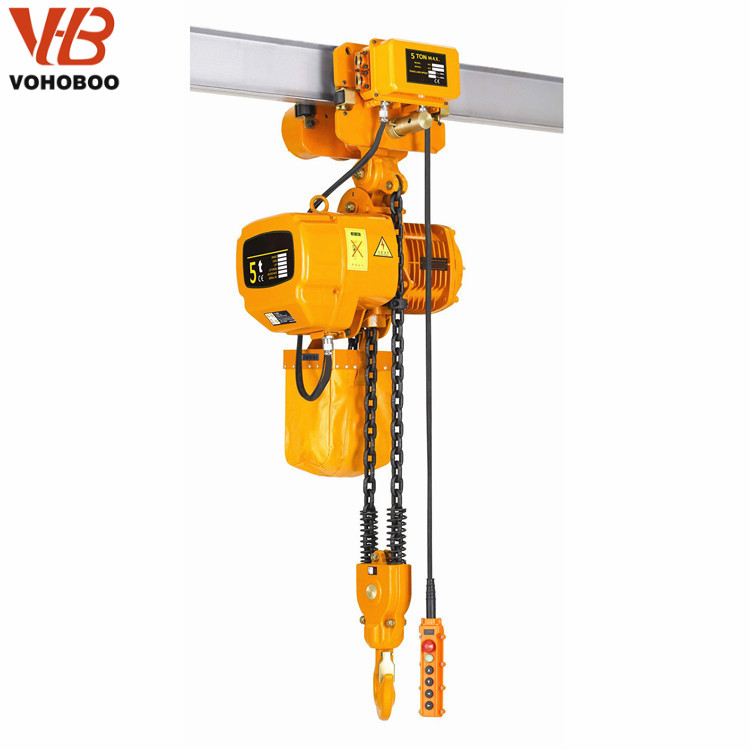 5Ton Electric Chain Hoist 3/6/9/12m Crane Lifting Hoist