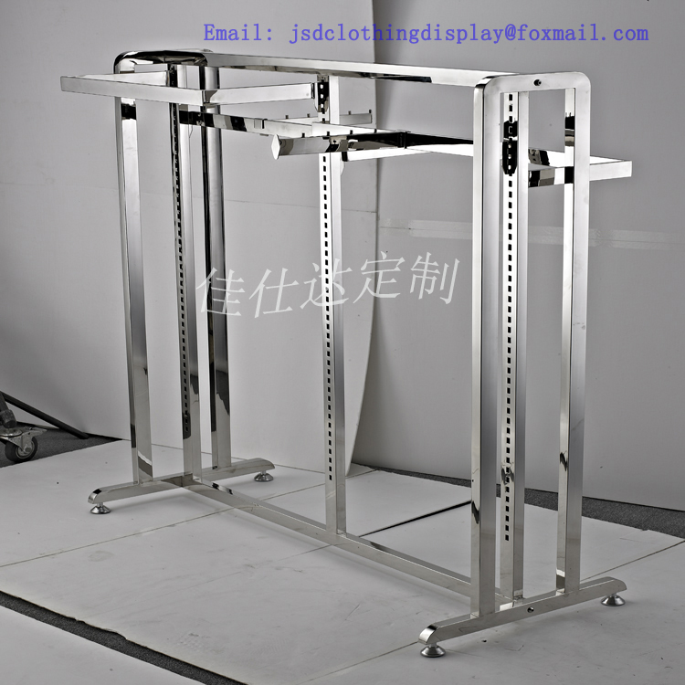 Mirror Finished display stand for cloth store