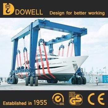 Hot sale Mobile boat hoist yacht lift crane boat hoist for sale