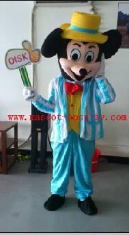 OISK Professional custom mascot costume stripe mickey mascot adult size, free shipping