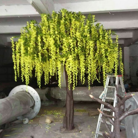 Artificial wisteria silk flower tree for wedding decoration