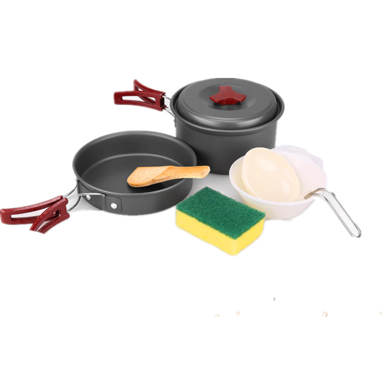 Hight quality hiking non stick cookware set