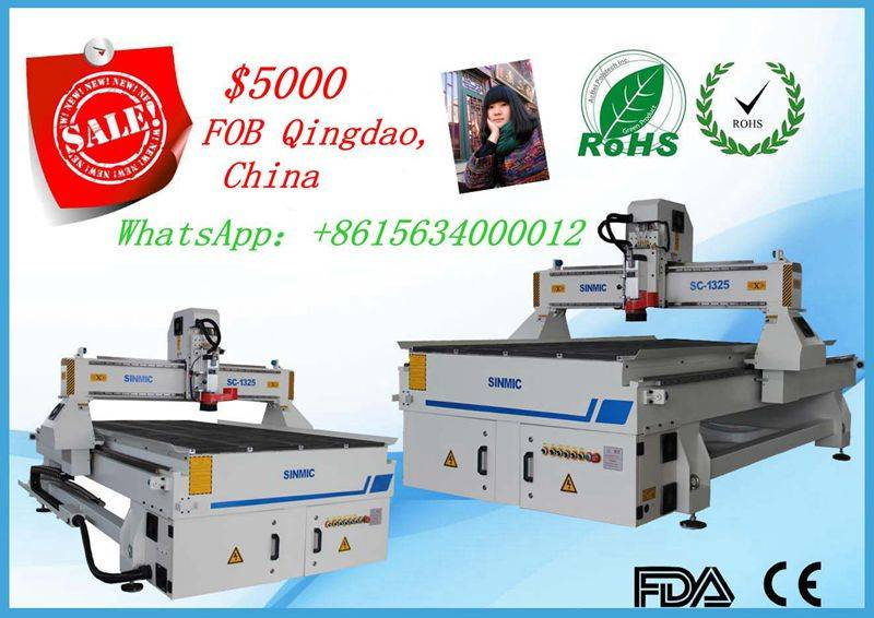 2016 hot cnc router ATC woodworking cnc router HSD 9kw ATC Spindle,1300*2500 mm Size