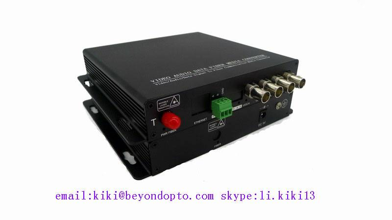 4ch security HD-SDI digital video to fiber transmitter and receiver,FC/SC/ST