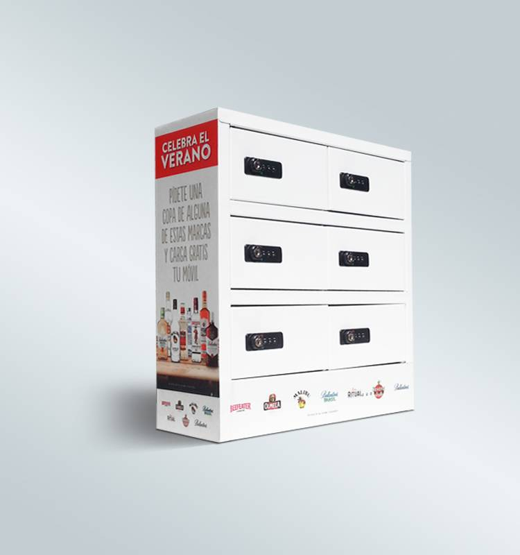 6-bay white&black phone/tablet charging station/locker with customized lock