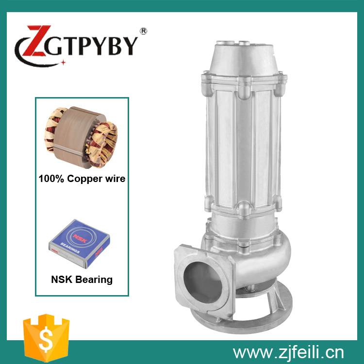Stainless steel WQP Series submersible sewage water pump