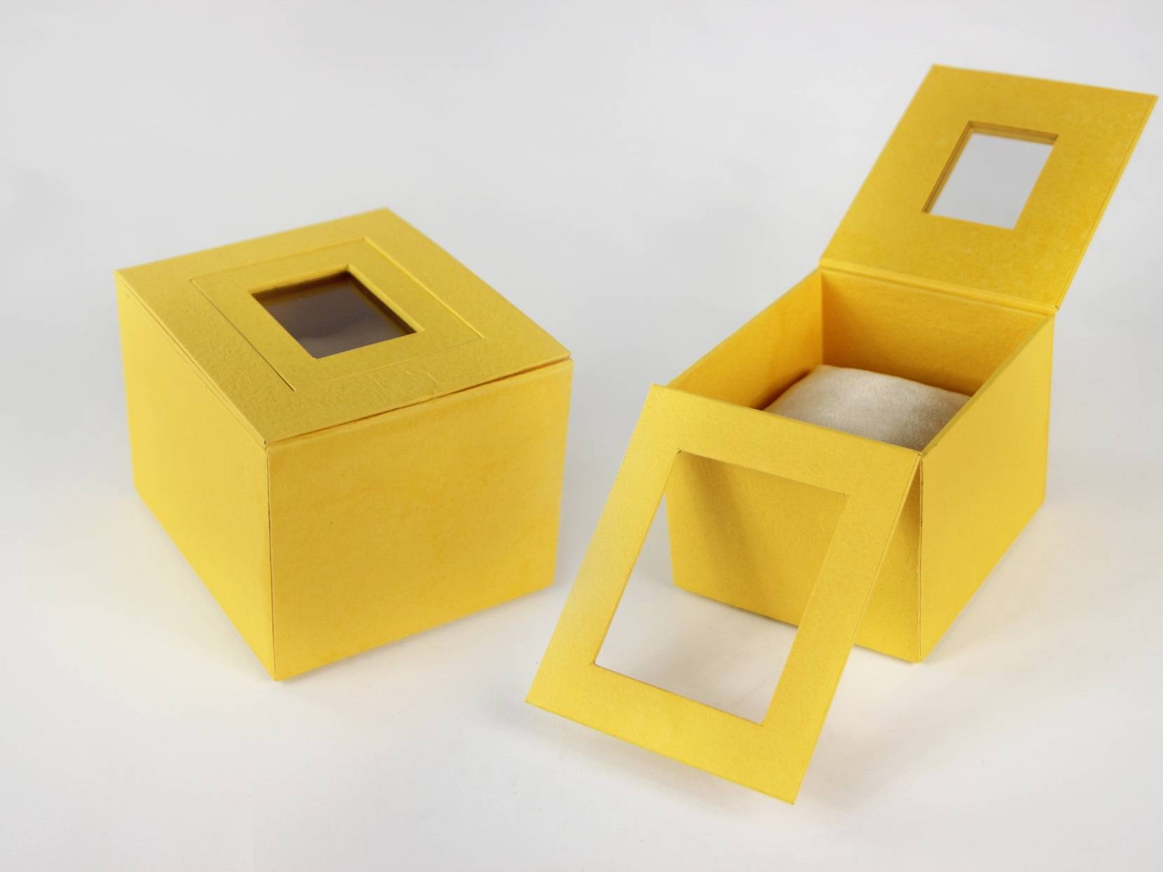 Yellow Paper Watch Box