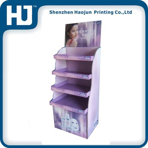 Environmental paper display stand for cosmetic