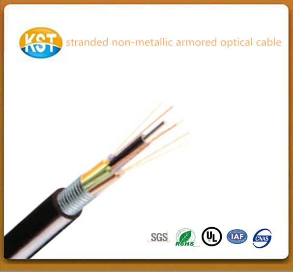 E-glass Rip cord/Stranded Non-metallic Steel Tape layer Loose Tube Outdoor fiber optical Cable