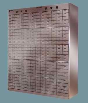 Traditional bank deposit box