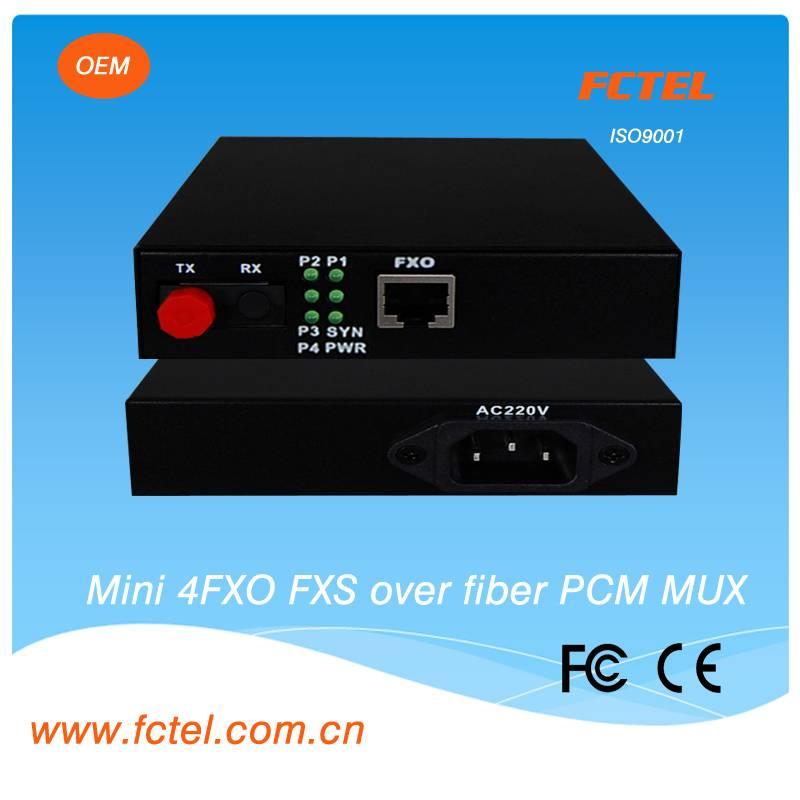 mini type 4 channel telephone POTS over fiber extender