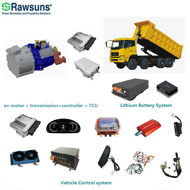 20136Nm 450kW electric motor gearbox ev car conversion kit