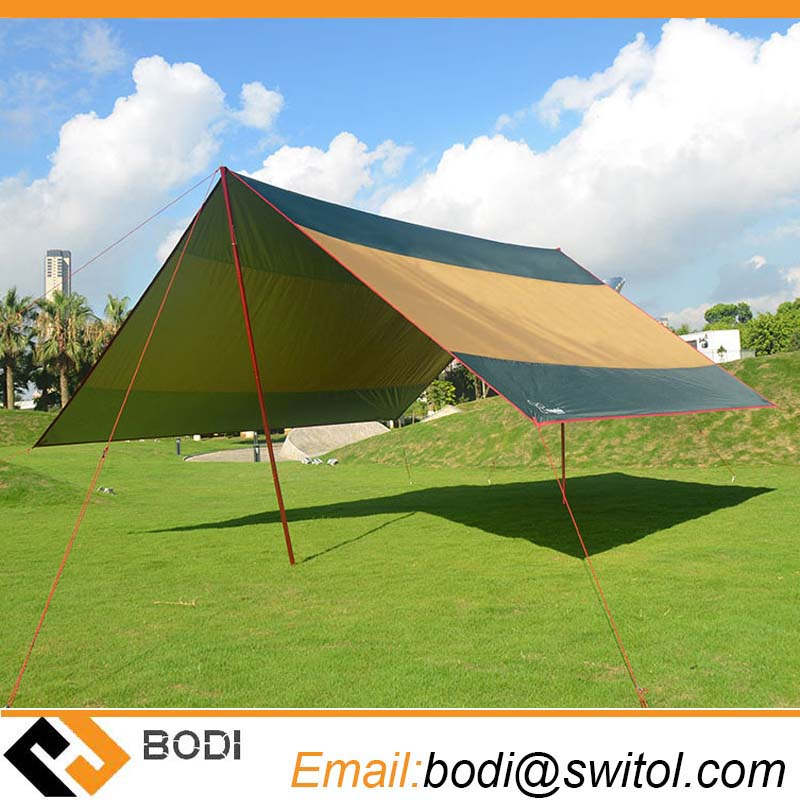 Outdoor folding camping sun shelter waterproof bell tent awning shade