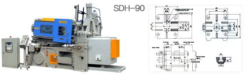90Ton Hot Chamber Diecasting Machine