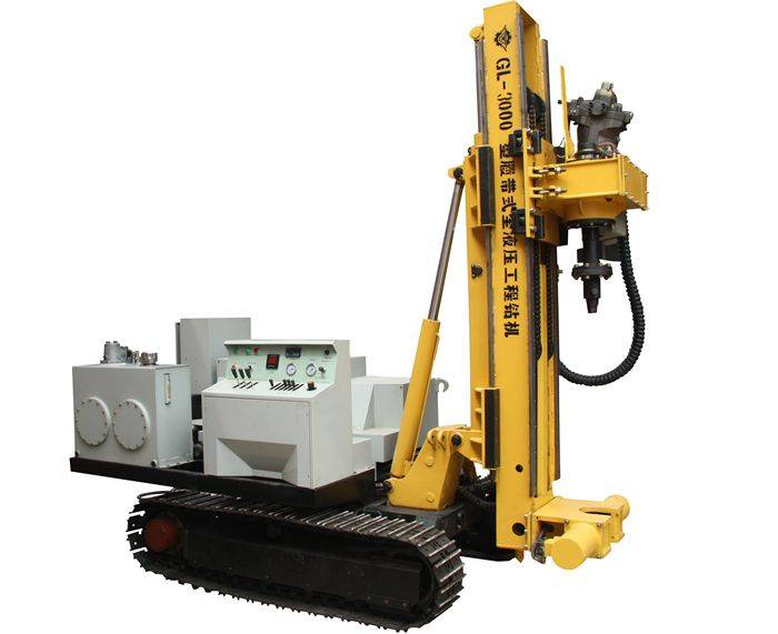 GL-3000 full hydraulic engineering crawler drilling rig