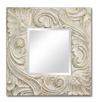 Wood carved Shabby chic mirror frame