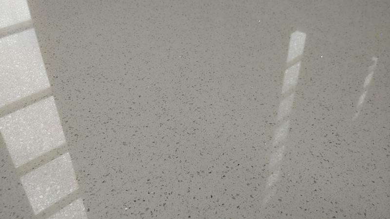 White Color Shining Series Quartz Stone Slab