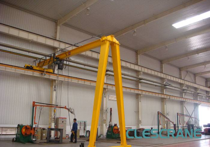 CH(W)B Series Half beam gantry crane, mobile gantry crane with chain hoist