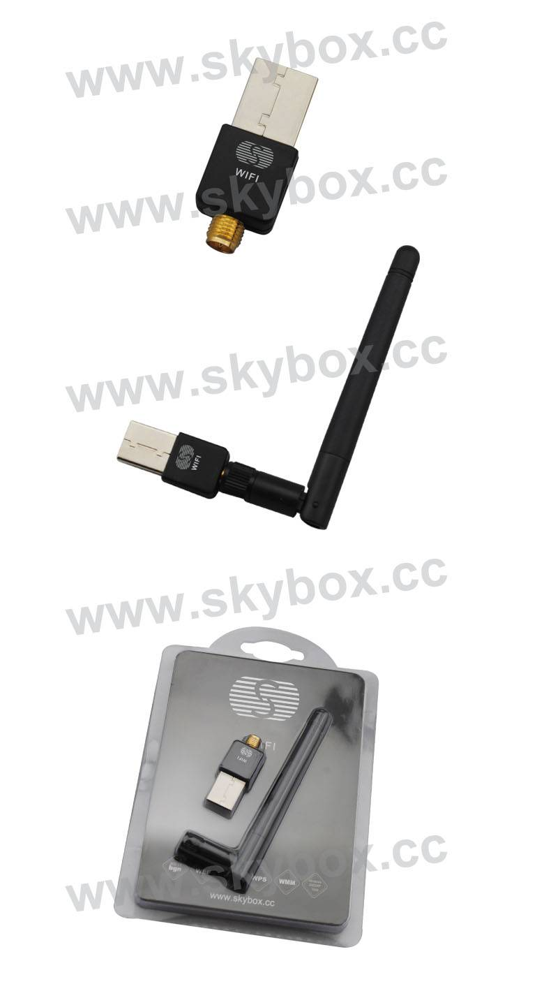 Mini 150M USB WiFi With Antenna Wireless Network Card LAN Adapter for Skybox F3S/F4S/F5S/V8/V7