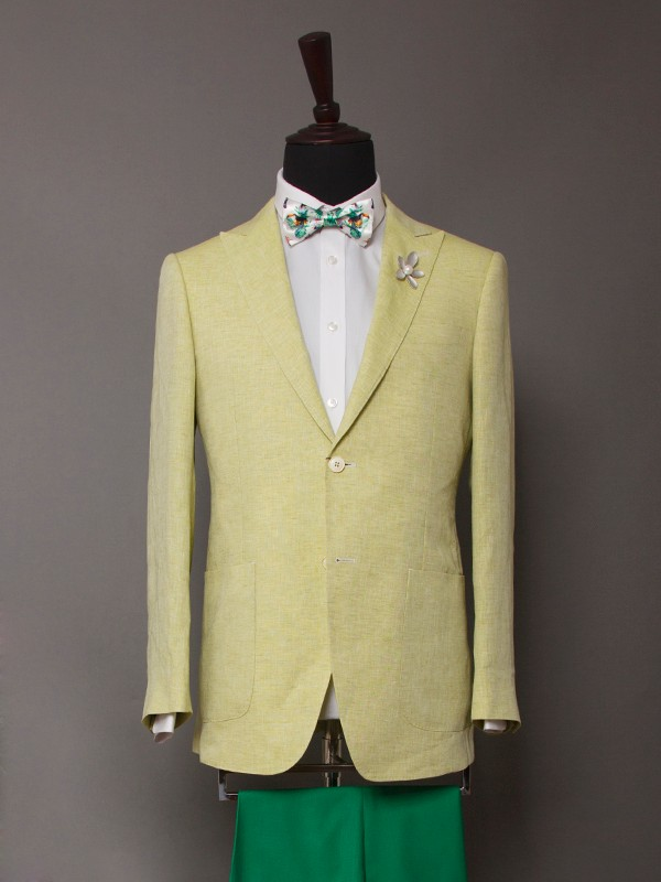 custom fashion handmade quality bright color mens suits